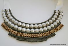 Bib Necklace - for more information go to www.glamaccessories.weebly.com or https://www.facebook.com/GlamAccess0ries
