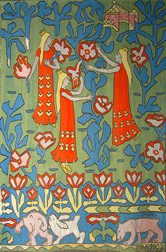 "Gerhard Munthe (Norway, 1849-1929): ""Eventyrhaven"" (the Fairy-Tale Garden, 1892-1903"