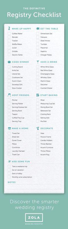 Wedding Registry Checklist  Wedding Planning Tips