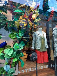 Anthropologie Regent Street's Earth Day Windows! See more on Arne's House blog