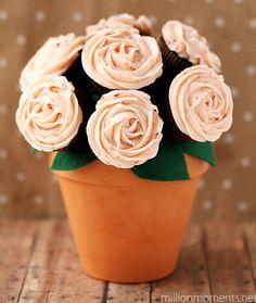 Edible cupcakes bouquet
