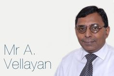 Mr A Vellayan                                      is Chairman of one of India's leading conglomorates, the Murugappa Group. With his passion for building value and integrity, Mr A Vellayan is the fourth generation family member to head the Murugappa Group and, today, its businesses are market leaders in numerous fields ranging from sugar to fertilisers. Mr Vellayan holds a diploma in Industrial Administration from Aston University.