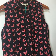 "Modcloth Yumi chicken rooster dress nwt 2 I really need a size 4 so I will sell this one, although I may not find a 4 ever! So cute, from England bust 17.5 waist 15 , 33"" long! This is a really special dress it's $115 on zappos ModCloth Dresses"