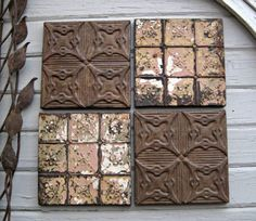 Tiles For Wall Decor Classy Antique Ceiling Tin Tile10Th Tin Anniversary Giftold Metal Decorating Inspiration