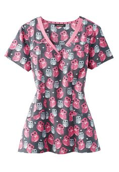HeartSoul Hoos the Cutest print scrub top. Main Image