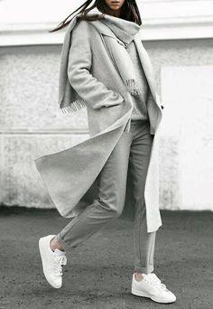 Warm Elegant Wool Winter Coat Shop beautiful Fall Winter Fashion Dont miss Mode Winter Fashion Outfits, Fall Winter Outfits, Look Fashion, Autumn Winter Fashion, Grey Fashion, Fall Fashion, Fashion Mode, Womens Fashion, Ladies Fashion