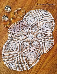 Crochet: Doilies oval track / some very cool doilies here, with diagrams.