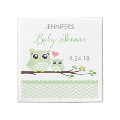 Avoid any messy dinners with Chevron napkins from Zazzle. Browse through our marketplace of paper and cloth napkins ranging in different styles and sizes. Baby Shower Party Supplies, Baby Shower Parties, Cartoon Owl Pictures, Owl Invitations, Chevron Paper, Pink Paper, Baby Shower Napkins, Green Chevron, Baby Owls