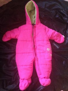 Snowsuit Baby Girl Pink NWT Butterfly 0 - 3 Months
