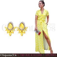 Pendientes Nadine amarillos ★ 12'95 € en https://www.conjuntados.com/es/pendientes-nadine-amarillos.html ★ #pendientes #earrings #conjuntados #conjuntada #joyitas #lowcost #jewelry #bisutería #bijoux #accesorios #complementos #moda #eventos #bodas #invitadaperfecta #perfectguest #party #fashion #fashionadicct #fashionblogger #blogger #picoftheday #outfit #estilo #style #streetstyle #casualstreet #spain #GustosParaTodas #ParaTodosLosGustos