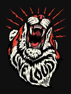 It's absolutely amazing work. Loving the tiger live loud nathan yoder lion type text font typography letters Tiger Illustration, Graphic Design Illustration, Graphic Art, Illustrator Tutorials, Illustrations, Graphic Design Inspiration, Travel Inspiration, Typography Design, Typography Letters