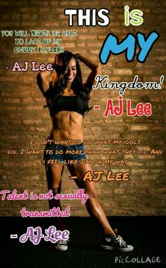AJ quotes. Give me credit to @AJLeeismyidol. Want any edits? Just comment below