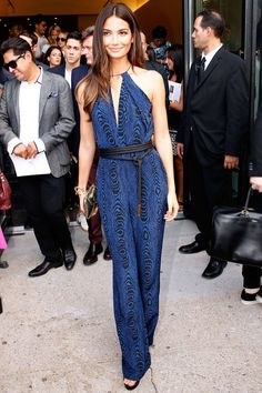 Lily Adridge attends the Diane Von Furstenberg fashion show during Mercedes-Benz Fashion Week Spring 2015 on Sept. 7, 2014, in New York City.  Getty -Cosmopolitan.com