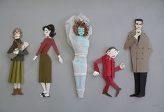 Twin Peaks paper art by Megan Brain