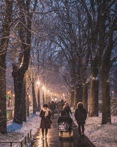 The streets of Strasbourg turn into such a magical place with snow  Do you like winter?