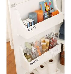 Cabinet Door Storage Bins | DIY Bathroom Storage Ideas for Small Spaces