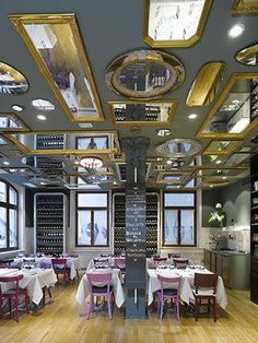 Bella Italia wine store restaurant by Ippolito Fleitz Group Stuttgart Germany ENOTECAS! Bella Italia wine store & restaurant by Ippolito Fleitz Group, Stuttgart Germany Design Hotel, Small Restaurant Design, Luxury Restaurant, House Restaurant, Restaurant Interior Design, Italia Restaurant, Bella Restaurant, Italian Restaurant Decor, Restaurant Layout