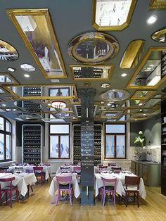 http://media-cache-ak0.pinimg.com/originals/06/bf/6a/06bf6a0a16edea96d98f0c05b0a75c97.jpg Great idea for short ceilings #shops #pubs #resto #interiordesign #relax #commercial #space #design #urban #designlit #belitup