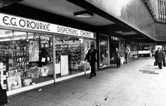Shops in Fairfax Street, Coventy, West Midlands, February Coventry England, Coventry City, Restaurant, West Midlands, Back In The Day, Nostalgia, Photo Wall, Street, Shops