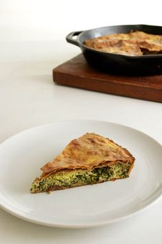 Greek Courgette, Spinach & Olive Pie With Whole Wheat Filo Pastry