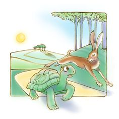 Diane Gronas Illustration Tortoise & the Hare APR 2019