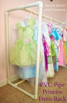 PVC Pipe Princess Dress Rack by Simple Simon and Co