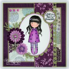 purple gorjuss stamps | The inside is kept plain, and I have once again used the sentiments ...
