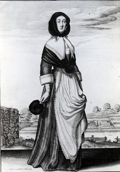 Autumn - engraving by Hollar (mid 17th Century)