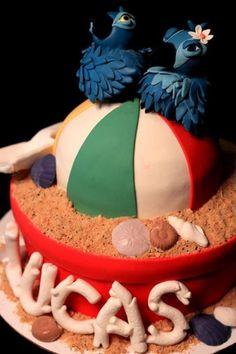 Rio the Movie cake from Sweet Konfections Creations, Ontario, California. Rio Birthday Cake, Rio Birthday Parties, Cookie Cake Birthday, Cupcake Cookies, Cupcakes, Rio Cake, Rio Party, Amazing Hd Wallpapers, Movie Cakes