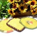 1960's - 70's Vintage Potholders $7.00 set #Thanksgiving