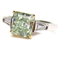 1.51ct. Radiant Fancy Green Diamond