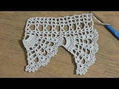 Crochet Edging Patterns, Crochet Motif, Crochet Stitches, Crochet Top, Crochet Feather, Crochet Flowers, Crochet Flower Tutorial, Cross Stitch Rose, Chrochet