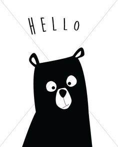 Bonjour art mural de chambre de bébé moderne ours grand imprimable ! Téléchargement instantané des fichiers numériques ! Cesser d'attendre pour l'expédition-ces fichiers sont prêts à télécharger immédiatement ! Ce qui est si grand sur les impressions numériques ? Eh bien, il n'y a pas