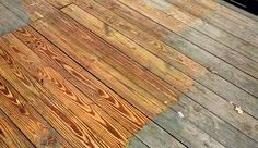 Before after deck - guide to deck refinishing. Might need this later on down the road.