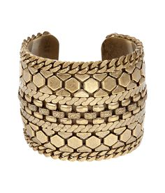 Brass Chained Cuff