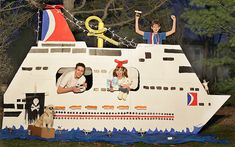 Carrie Duwelius of Naperville, Ill., Named Winner of Carnival's Build a Ship Contest, Receives Free Cruise on New Carnival Magic – Carnival Cruise Line News Cruise Theme Parties, Cruise Ship Party, Cruise Boat, Cruise Travel, Cruise Vacation, Disney Cruise, Cruise Door Decor, Bon Voyage Party, Love Boat