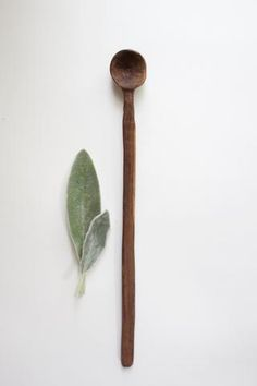 Hand carved by local small batch maker Anneliesse McKee in Asheville, NC, this long handled spoon is made from specially selected walnut wood. A wood spoon is a staple to the kitchen and quickly becom