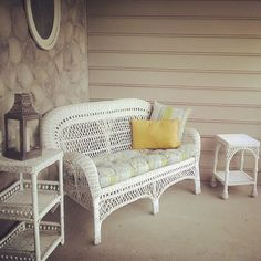 Charming Porch Wicker Set Is Cute And Perfect For Smaller Es White