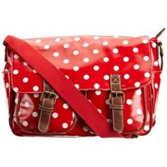 Swanky Swans Ashley Polka Dot Satchel, Sac Bandoulière Femme - Rouge - Rouge, L Eu