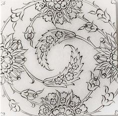 . Mandala Painting, Ceramic Painting, Ceramic Art, Islamic Art Pattern, Pattern Art, Hand Embroidery Designs, Embroidery Patterns, Floral Illustrations, Illustration Art