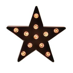 9 Lighted Brown 5-Point Metal Star Decorative Christmas Tree Topper - Clear Lights 31740365 | ChristmasCentral