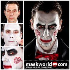 "#tbt #throwbackthursday zu unserem #SAW #Schminktipp . Der neue Saw 8: Legacy kommt am 20.10.2017 in die Kinos und heißt dann ""Jigsaw"". Mehr Schminktipps auf www.maskworld.com und unserem youtube Kanal. #jigsaw #saw8legacy #saw8 #horrorlover #makeup #makeuptutorial #halloweenmakeup #halloweenmakeupideas #crazymakeups #schminke #gruselmakeup #gruselig #moviemakeup #billythepuppet #billysaw #professionalmakeup #halloweeniscoming #onlineshop #besteronlineshop #berlinstore #redlipstick…"