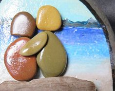 pebble art pebbleart painted rock stone ocean beach love couple friends water
