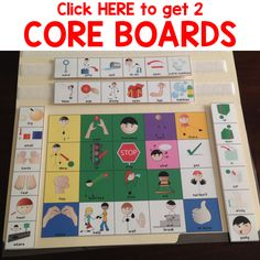 FREE Core Boards with fringe vocabulary for blowing bubbles.