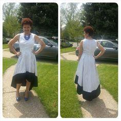 Polka dot hi low dress