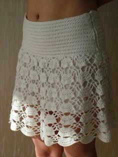Garment Idea - crochet skirt...like the solid hip yoke...would keep it's shape better