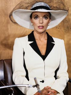 The Most Stylish TV Characters of All-Time: Joan Collins as Alex Carrington on Dynasty, 1981.