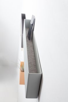 Jak is a minimalistic wall coat rack with storage on top. Coat Rack With Storage, Blinds, Modern, Studio, Design, Felt, Minimalist, Postcards, Trendy Tree