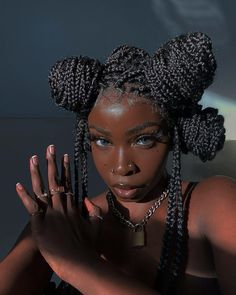 Pretty Black Girls, Beautiful Black Girl, Dark Skin Beauty, Hair Beauty, Black Beauty, Hair Afro, Curly Hair Styles, Natural Hair Styles, Black Girl Aesthetic