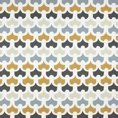Pembury - Saffron fabric, from the Accent collection by Prestigious Textiles Dark Curtains, Curtains With Blinds, Geometric Curtains, Warwick Fabrics, Interior Design Courses, Prestigious Textiles, Curtain Designs, Roller Blinds, Curtain Fabric
